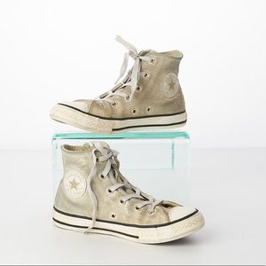 Converse All-Star Silver Glitter Zip Up Sneakers 1